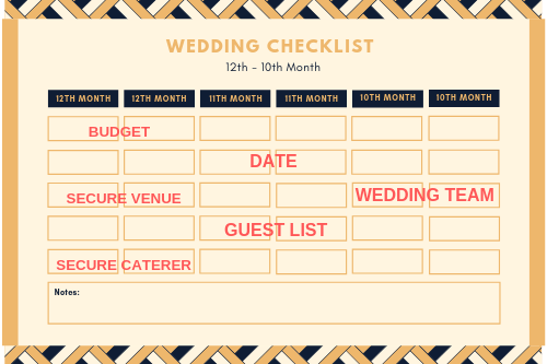 12th – 10th Month of Wedding Planning - Westlane Place